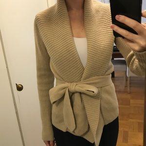 Abercrombie & Fitch Chunky Tie Waist Sweater
